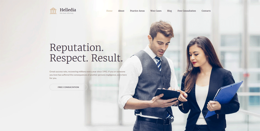 Lawyer Moto CMS 3 Template