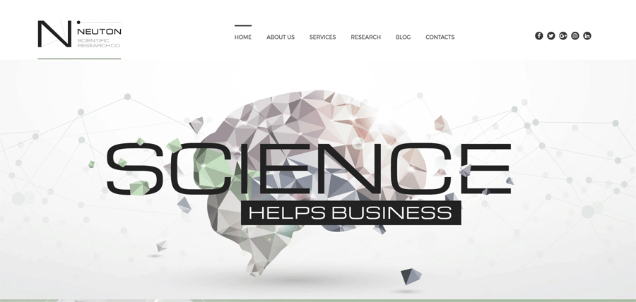 Science website builder themes