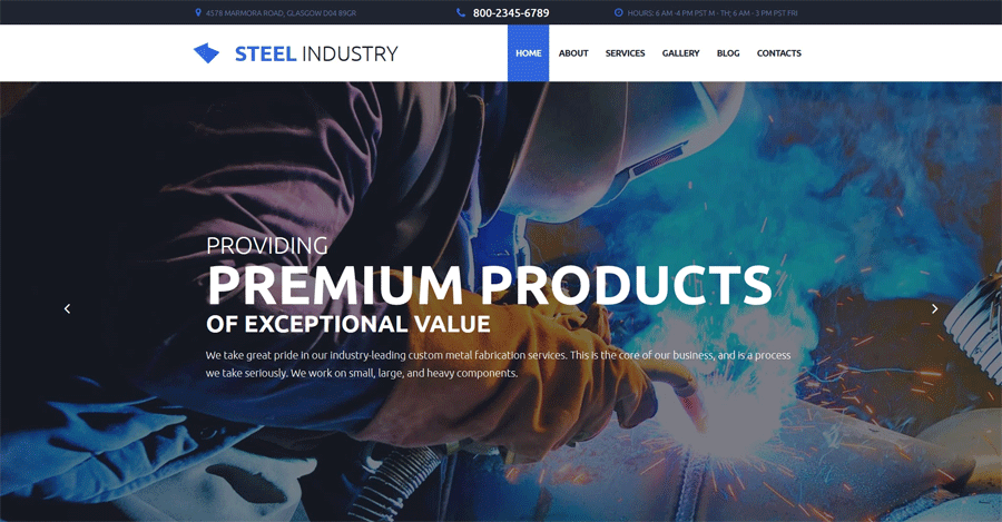 Industrial Moto CMS 3 Template