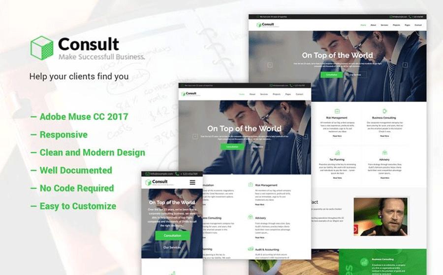 Adobe CC 2017 Muse Template