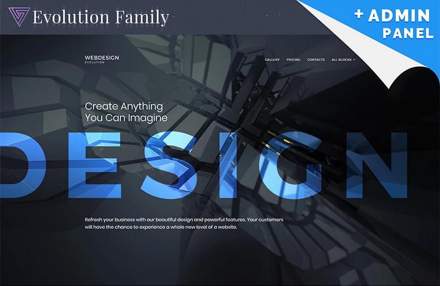 Evolution Web Design MotoCMS 3 Landing Page Template