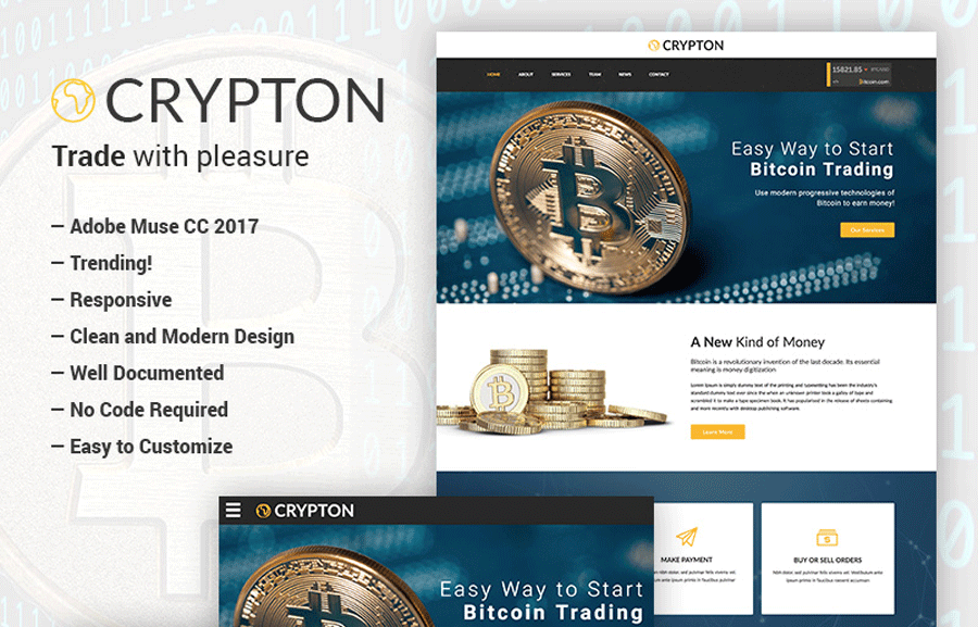 Cryptocurrency Muse Template