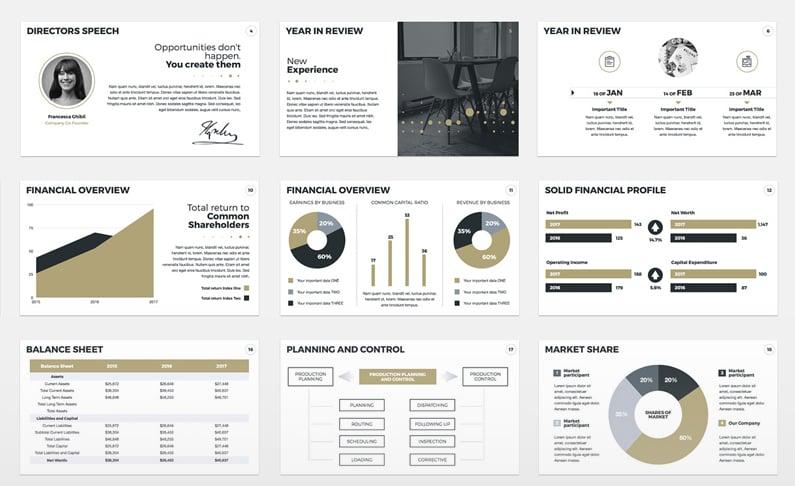 Annual Report Presentation Templates