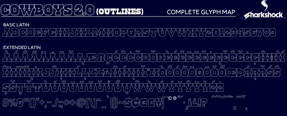 Cowboys 2.0 Font