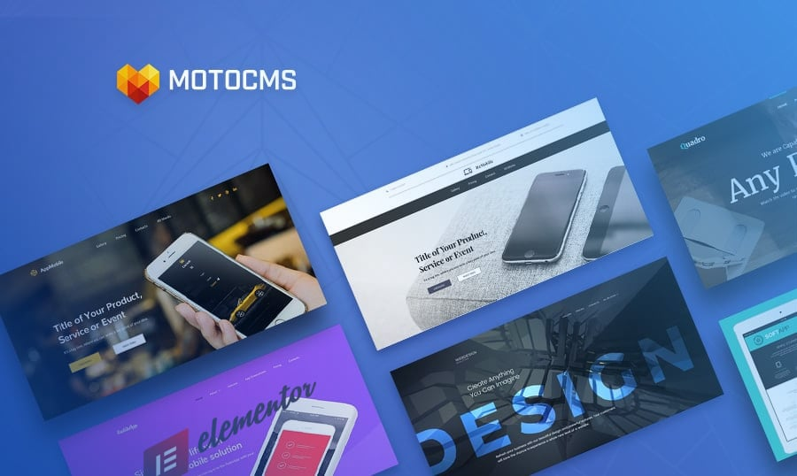 Mobile App Landing Page Template Collection 2018