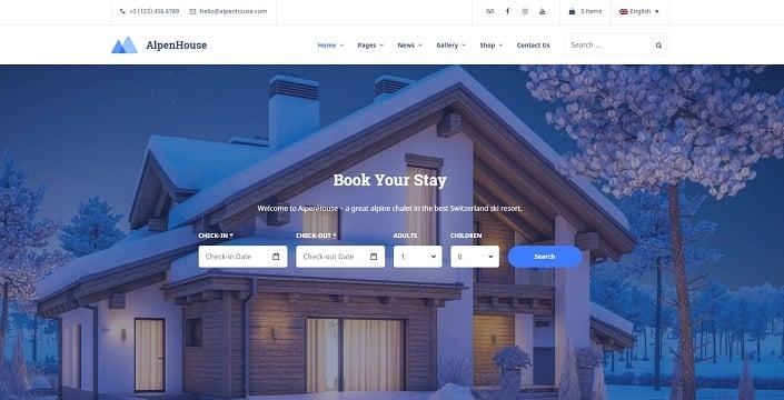 AlpenHouse - Vacation Rental WordPress Theme