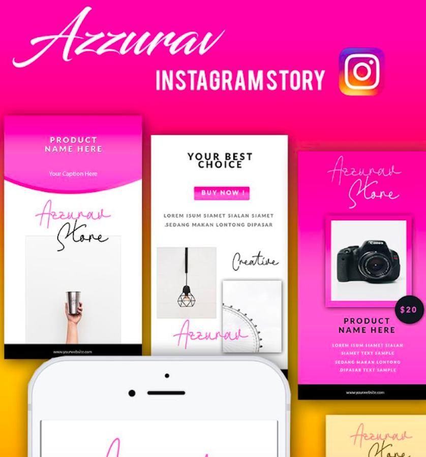 Azzurav Instagram Stories Social Media