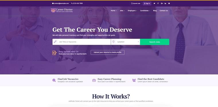 CareerHunter - Complete Job Board WordPress Theme