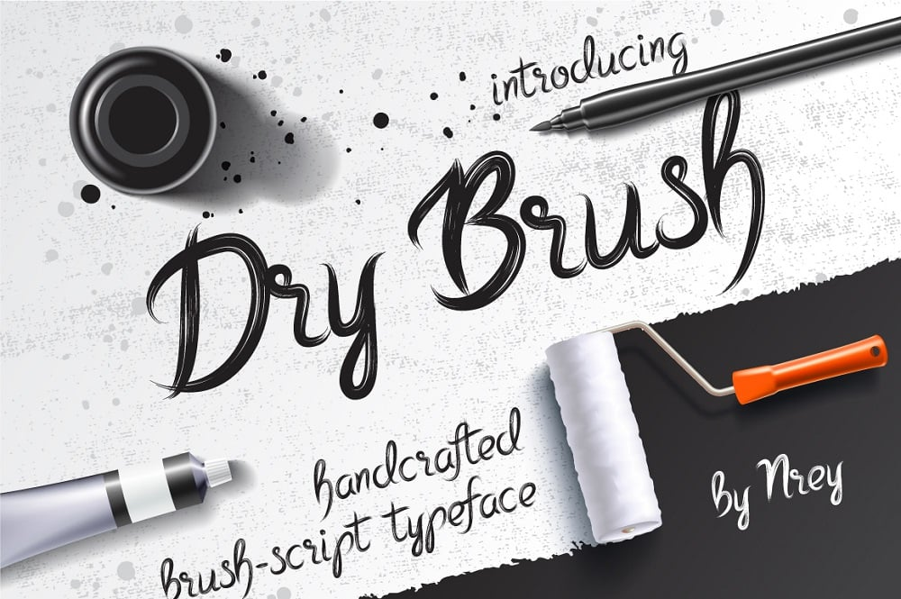 Dry Brush Trendy fonts