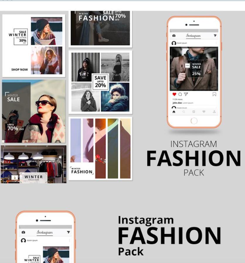 Fashion Instagram Banner Pack Social Media