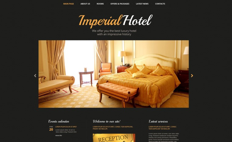 hotel accomodation website template
