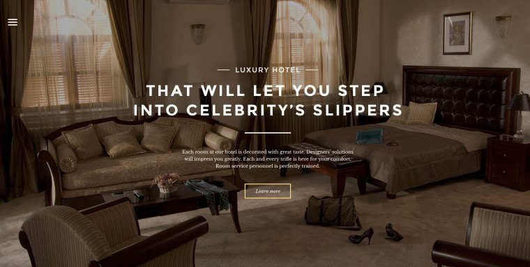 hotels responsive template