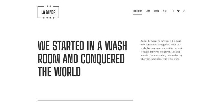 La Minor - Minimalistic Black-and-white Storybrand WordPress Them