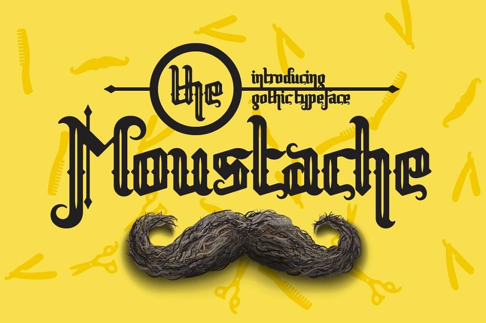 Moustache Trendy fonts