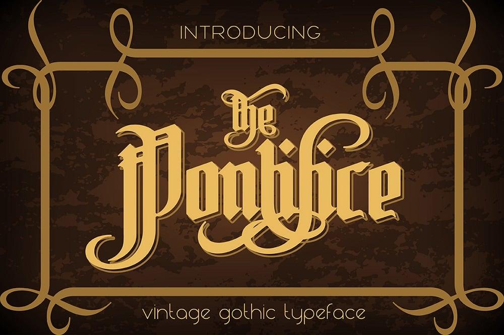 Pontifice Trendy fonts