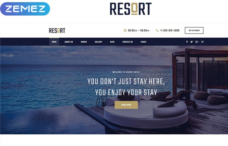resort website theme