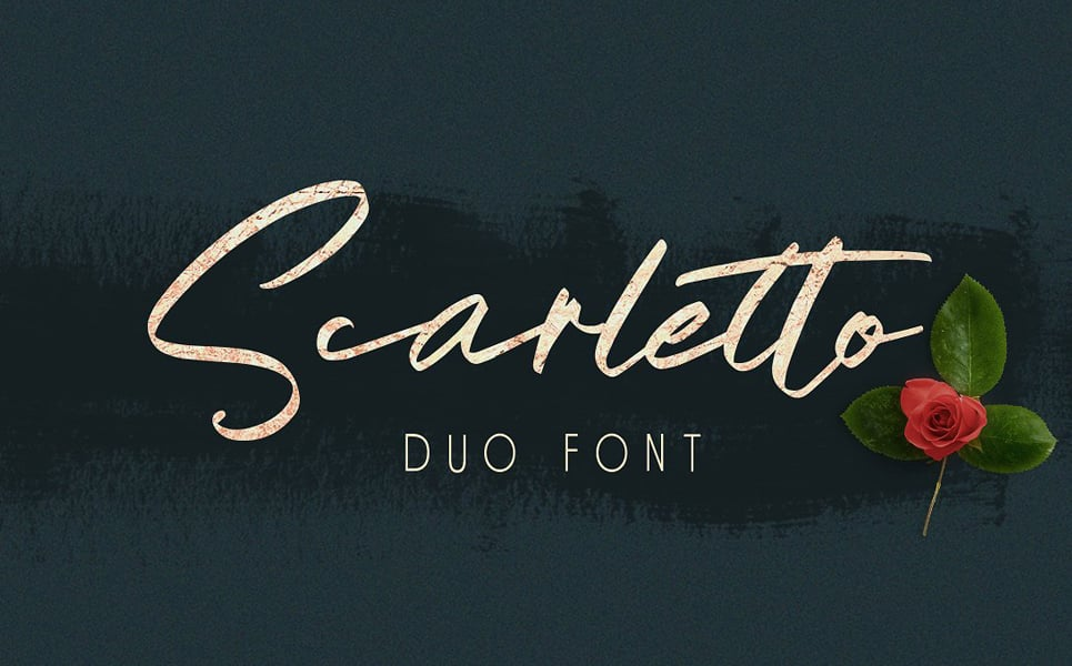 Scarletto Signature Duo Trendy fonts