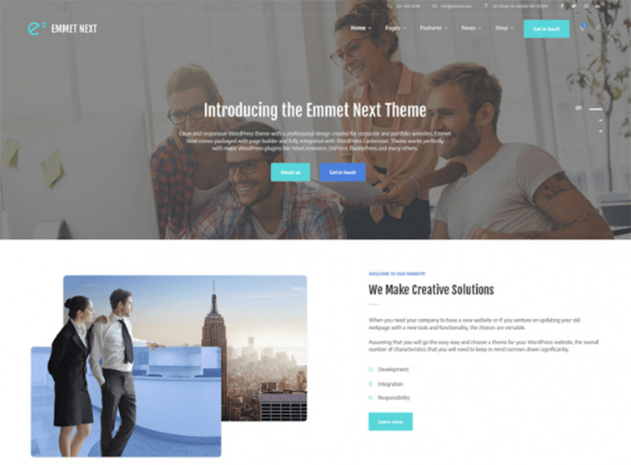 Emmet Next - Multipurpose Business WordPress Theme