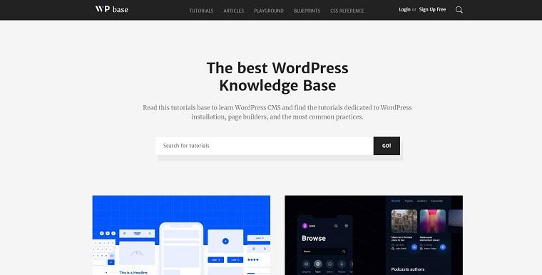 WPbase - WordPress Tutorial Theme WordPress Theme