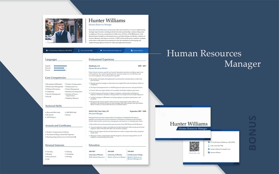 Human Resources Manager Resume Template