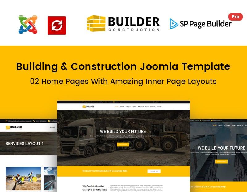 Construction Company Joomla Template