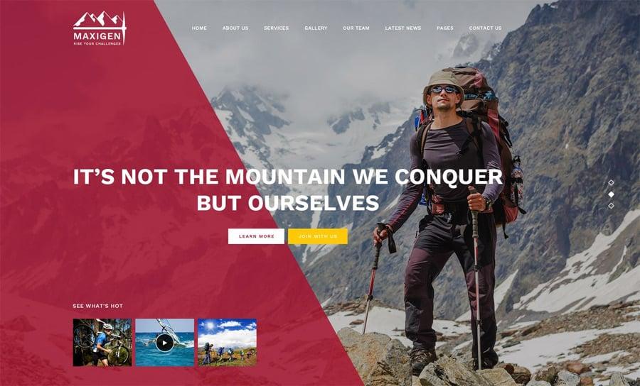 Hiking WordPress Theme