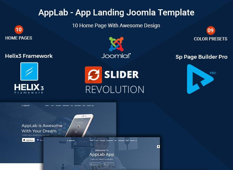 App Landing Joomla Template