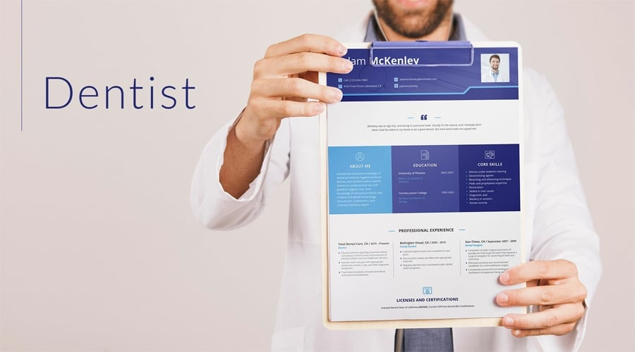 Dentist Resume Template
