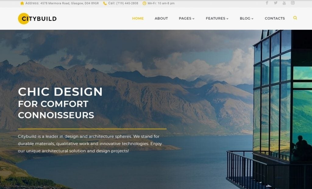 CityBuild Architecture Agency WordPress Theme