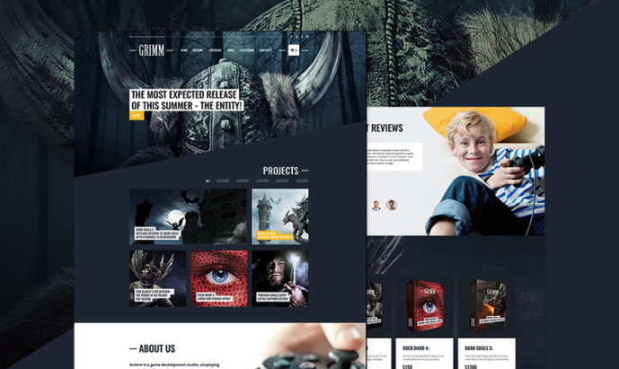 Game Development Studio Free WordPress Theme