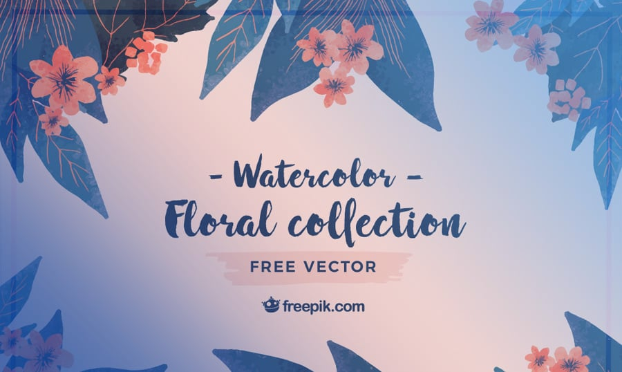 Bring Spring to Life with These Watercolor Flower Vectors from Freepik
