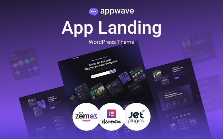 Innovative Appwave WordPress Theme