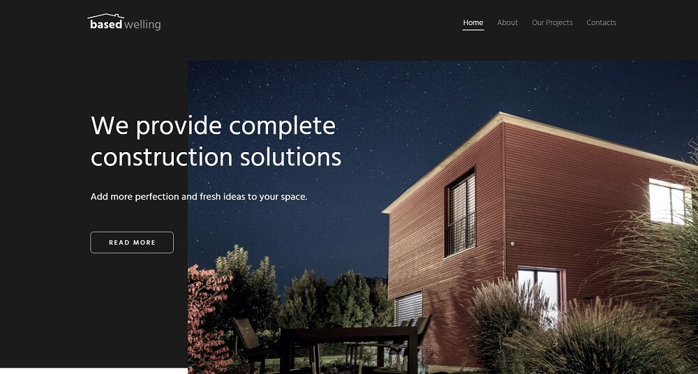 BasedWelling - Exterior Home design website for everyone WordPress Theme