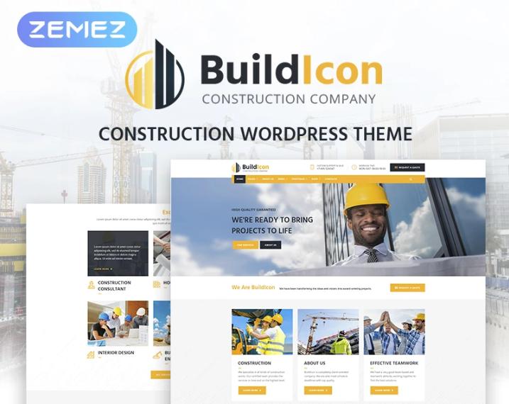 BuildIcon- Construction Company WordPress Theme