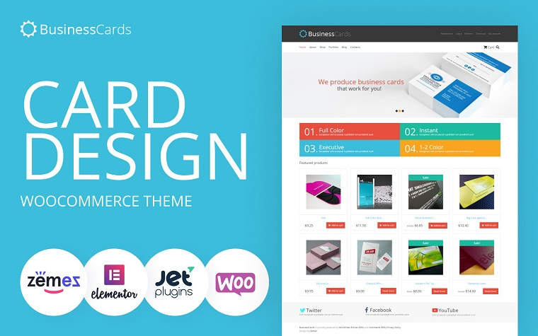 Memorable Business Cards Store WooCommerce Theme