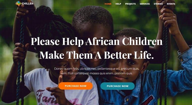Chiller - Charity/Fundraising WordPress Theme.
