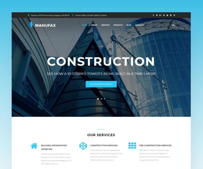 Manufax- Construction Multipurpose CreativeElementorWordPress Theme