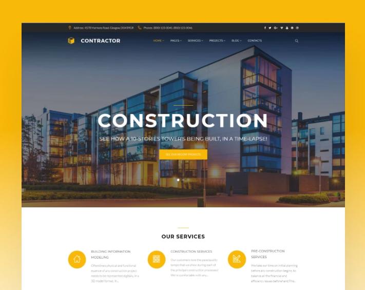 Contractor- Architecture & Construction CompanyElementorWordPress Theme