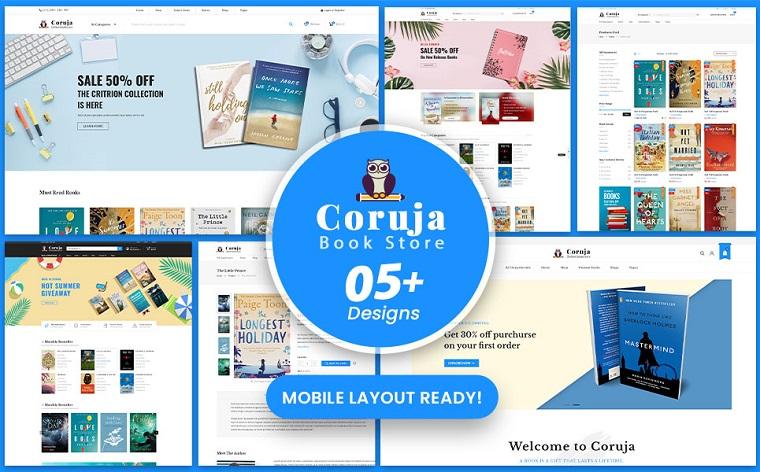 Beautiful Coruja - Book Store WooCommerce Theme