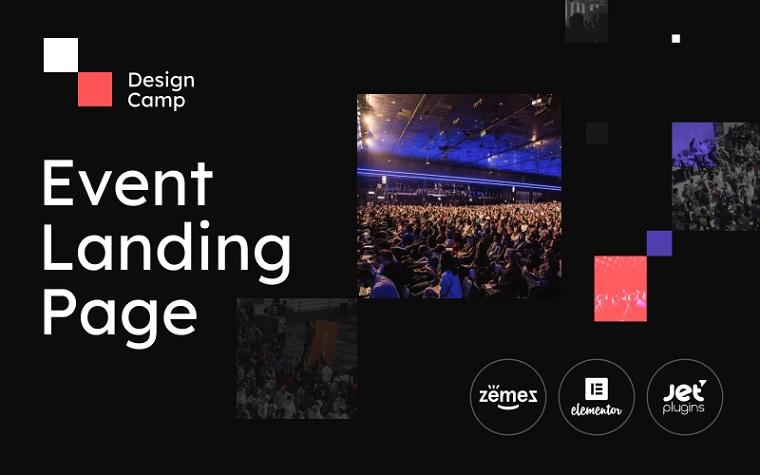 DesignCamp - Modern Event Landing Page Platform WordPress Theme.