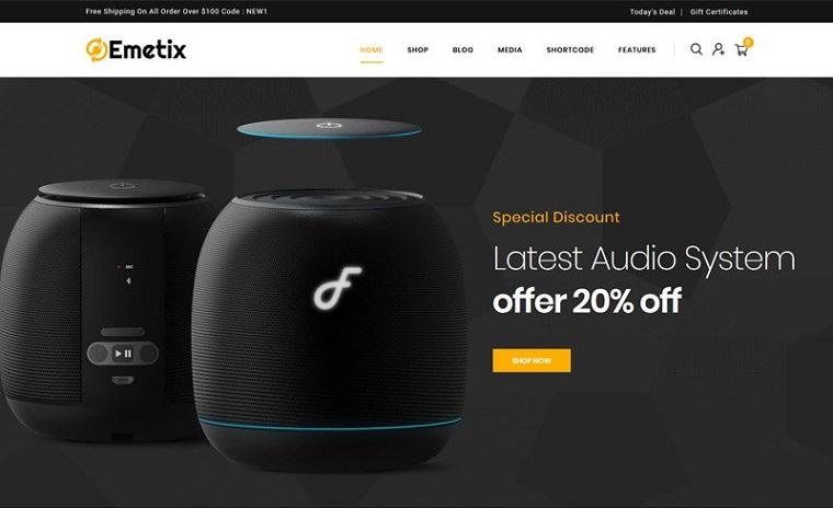 Elegant Emetix - Digital Shop WooCommerce Theme