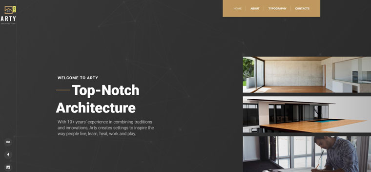 Free HTML5 Theme - Architecture Website Template.