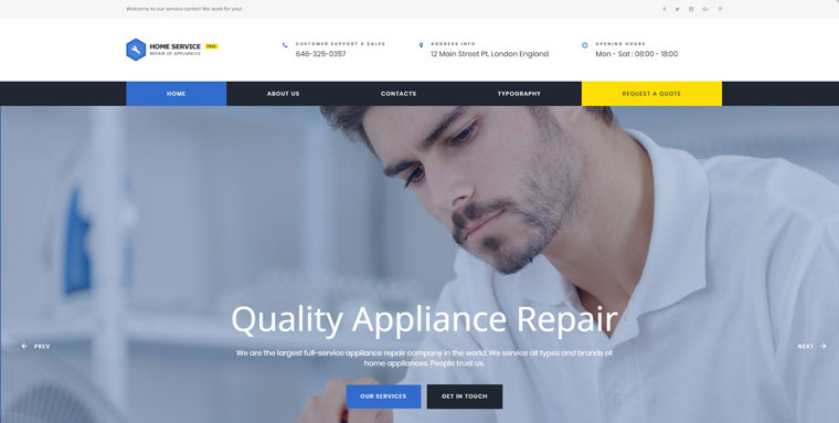 Free HTML5 Theme - Cleaning Website Template.