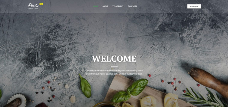 Cafe & Restaurant Free Website Templates Website Template.