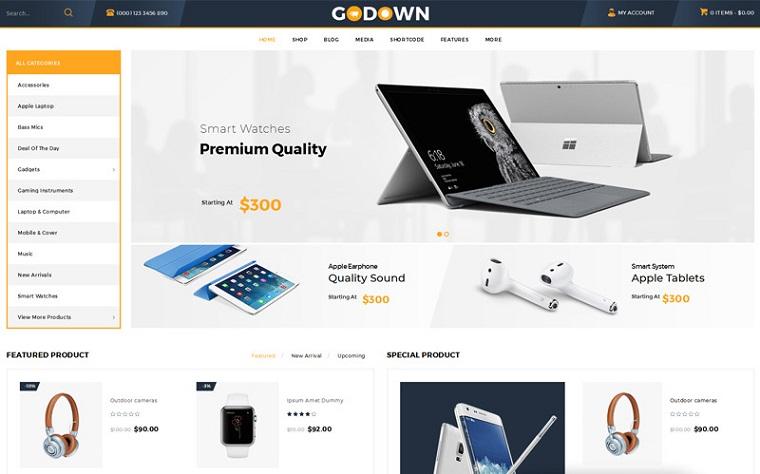 Advanced GoDown WooCommerceTheme