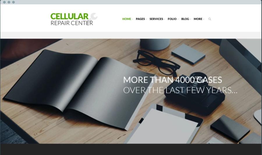 Cellular Repair Center Digital Products WordPress Themes
