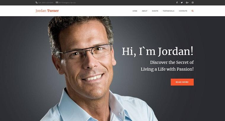 Jordan Turner - Life Coaching WordPress Theme.