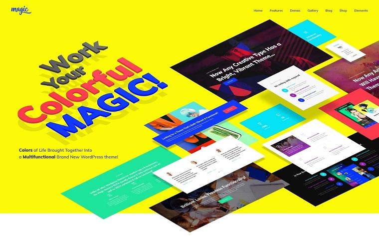 Colorful MagicWordPress Theme