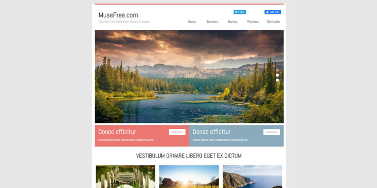 Muse Business Template.