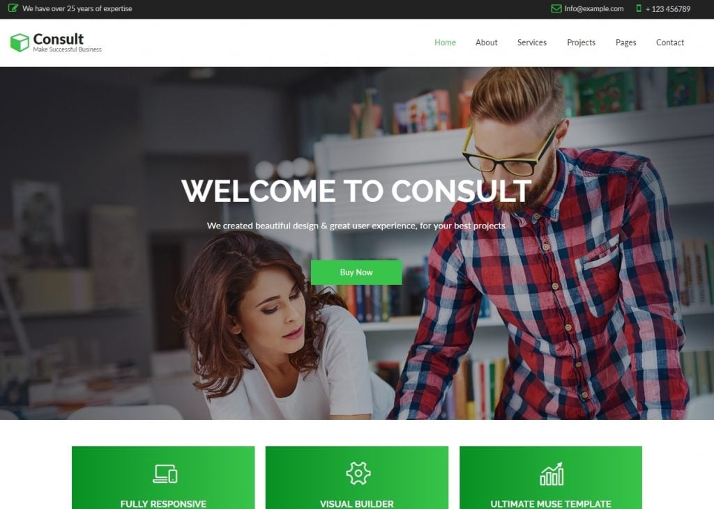 Consult – Business Consulting Adobe CC 2018 Muse Template